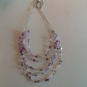 Jewelry - purple and silver layered necklace necklace